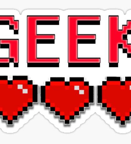 Geek - 3 hearts Sticker