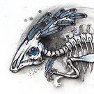 Feathered Hadrosaur by Kaitlin Beckett