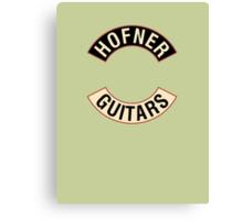 Hofner Guitars Canvas Print