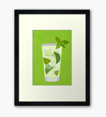 Cocktail - Mojito Framed Print