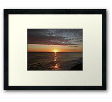 Sunrise at Cley Framed Print