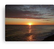 Sunrise at Cley Canvas Print