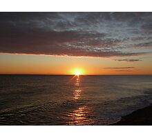 Sunrise at Cley Photographic Print