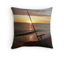 Angler's dawn at Cley Throw Pillow