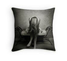 A wall, a chair and a girl... Throw Pillow