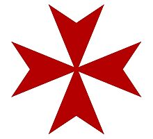 Maltese cross - Knights Templar - Holy Grail -  The Crusades Photographic Print