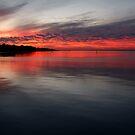 Sunset, Corio Bay Portarlington by Joe Mortelliti