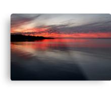 Sunset, Corio Bay Portarlington Metal Print