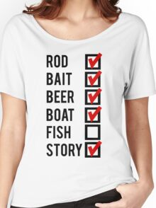 Fishing Check Off List Mens Women's Relaxed Fit T-Shirt