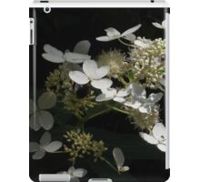 White Flower and Bee Illuminate iPad Case/Skin