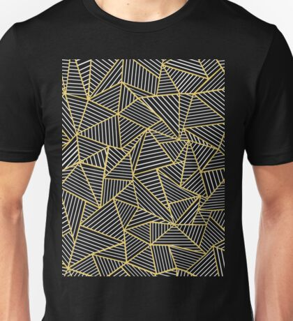 Ab Out Double Repeat Black and Gold Unisex T-Shirt