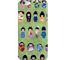 Creative Kokeshi, Kanji version iPhone Case/Skin