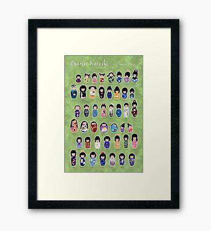 Creative Kokeshi, English version Framed Print