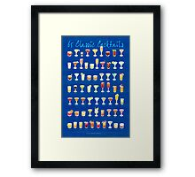65 Classic Cocktails Framed Print