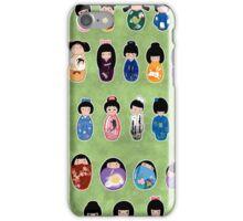 Creative Kokeshi, English version iPhone Case/Skin