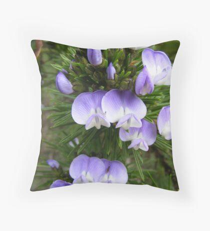 Macro Flowers Throw Pillow