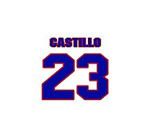 National baseball player Alberto Castillo jersey 23 Photographic Print
