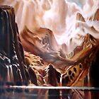 study landscape after Albert Bierstadt, by Hidemi Tada