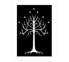white tree of Gondor Art Print
