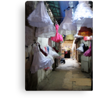 Dresses on display in Tripoli, Lebanon Canvas Print