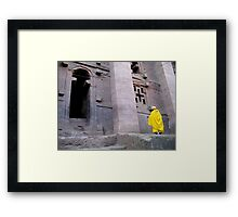 Golden Nun Framed Print
