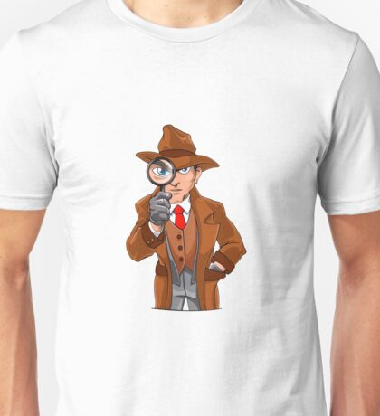 detective looking through magnifying glass Unisex T-Shirt