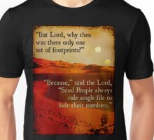 Footprints in the Sand People Unisex T-Shirt