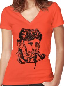 Vincent van Gogh-2 Women's Fitted V-Neck T-Shirt