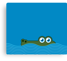 Crocodile iPhone case Canvas Print