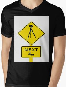 Tripod Ahead Mens V-Neck T-Shirt