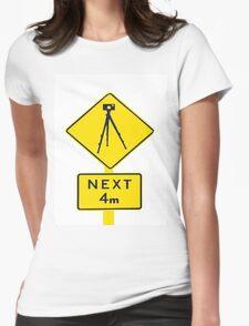Tripod Ahead Womens Fitted T-Shirt