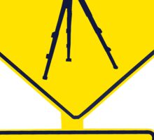 Tripod Ahead Sticker