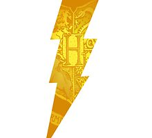 harry potter hogwarts crest lightning bolt by Audrey Metcalf
