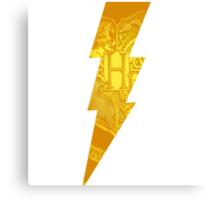 harry potter hogwarts crest lightning bolt Canvas Print