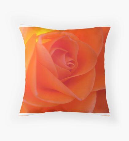 Rose amber Throw Pillow