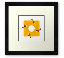 Qalb (Heart) Framed Print