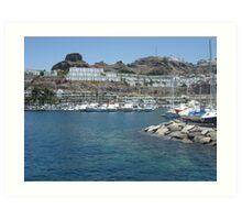 Gran Canaria harbour Art Print