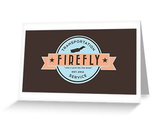 Firefly Transportation Logo Greeting Card