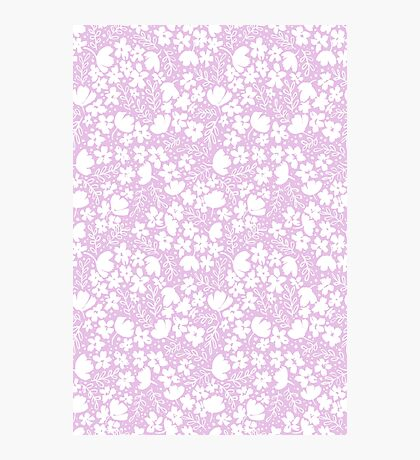 Love Blossoms - Pink Cherry Blossom Pattern Photographic Print