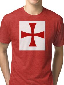 Knights Templar 1 - Holy Grail - templars - crusades Tri-blend T-Shirt