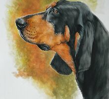 Black & Tan Coonhound by BarbBarcikKeith