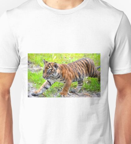 Sumatran Baby Tiger On the Run Unisex T-Shirt