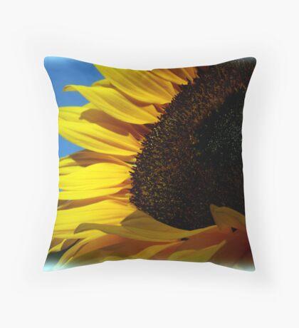 Sunny Sunflower Throw Pillow