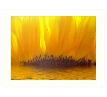 Sunflower Sunset Art Print