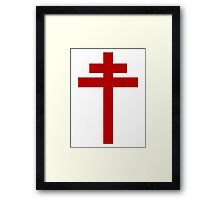 cross of Lorraine - Knights Templar - Holy Grail - Joan of Arch - The Crusades Framed Print