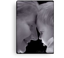 Woman and girl Canvas Print