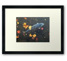 Autumn koi Framed Print