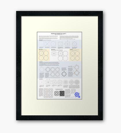 Arabesque Made Easy 1 Framed Print
