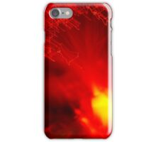 Red neon lights 8 iPhone Case/Skin