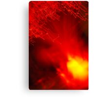 Red neon lights 8 Canvas Print
